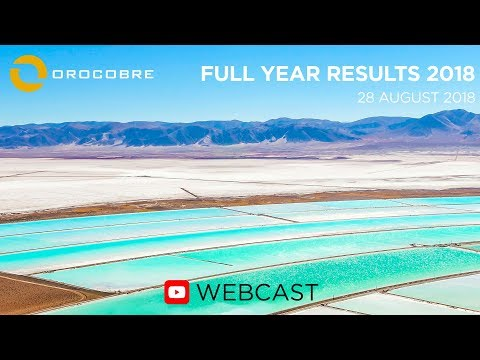 Orocobre Limited – Full-Year 2018 Financial Results WEBCAST