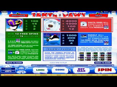 Online Casino Games:  Santa Paws Video Slot at 7Sultans Casino