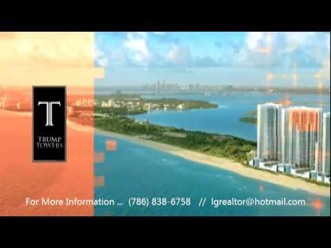 TRUMP TOWERS  — MIAMI FLORIDA   – AMAZING OCEAN VIEW