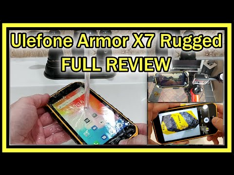 Ulefone Armor X7 (2020) 4G Rugged Cell Phone Unlocked Android 10 Quad-core 16GB ROM IP68 REVIEW