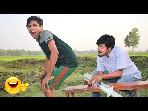 Whatsapp funny videos _verry injection comedy video stupid boys_new doctor funny videos 2021_Ep_ 66