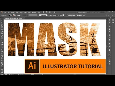 How To Create Text Mask In Adobe Illustrator | Tutorial