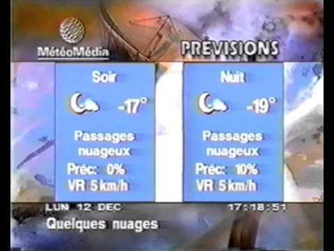 Meteo Media Ottawa Mon/lun 12 dec 1994