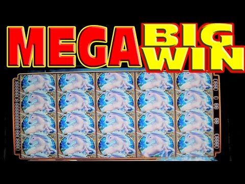 Mystical Unicorn FULL SCREEN MEGA BIG WIN Las Vegas Slot Machine Winner