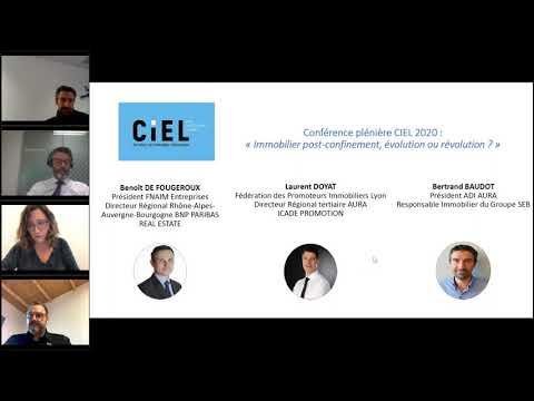Conférence plénière CIEL 2020 : immobilier post-confinement, évolution ou révolution ?