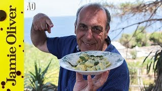 """This is a paid ad by Bertolli with Butter & Olive Oil. Gennaro returns to the island of Salina in Italy to cook a surprisingly simple, yet delicious Sage and Butter Sauce sauce. Matching it with a Ricotta & Spinach Cappella (ravioli), this versatile sauce can take almost any pasta dish to the next level. In the words of the great Gennaro """"You will love it!""""Links from the video:Perfect Pasta Dough with Gennaro  http://jamieol.com/perfectpastadoughClassic Carbonara  http://jamieol.com/classiccarbonaraFresh Prawn Linguine  http://jamieol.com/prawnlinguineGennaro's Secret Allotment  http://jamieol.com/secretallotmentFor more information on any Jamie Oliver products featured on the channel click here: http://www.jamieoliver.com/shop/homeware/For more nutrition info, click here: http://jamieol.com/NutritionSubscribe to Food Tube  http://jamieol.com/FoodTubeSubscribe to Drinks Tube  http://jamieol.com/DrinksTubeSubscribe to Family Food Tube  http://jamieol.com/FamilyFoodTubeTwitter  http://jamieol.com/FTTwitterInstagram http://jamieol.com/FTInstagramFacebook  http://jamieol.com/FTFacebookMore great recipes  http://www.jamieoliver.comJamie's Recipes App  http://jamieol.com/JamieApp#FOODTUBEx"""