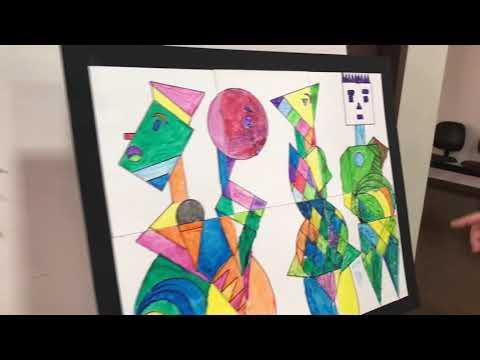Alunos da APAE contribuem com obras de arte de acadêmico de Artes Visuais