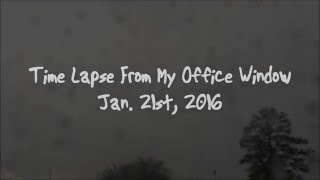[Time Lapse] View from My Office Window 1/21/16