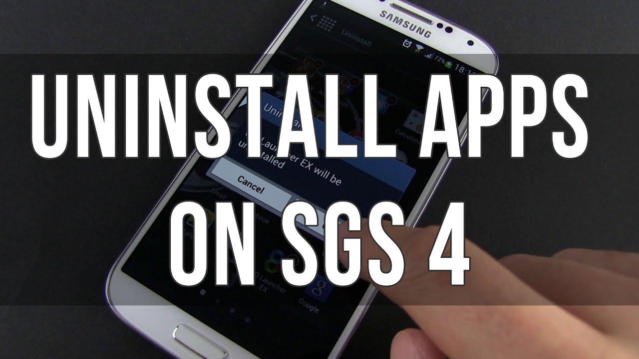 Descargar How to uninstall / delete apps on the Samsung Galaxy S4 para Celular  #Android