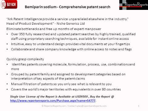 Bemiparin sodium- Comprehensive patent search