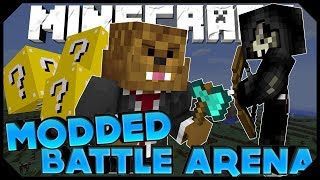 Minecraft: LUCKY BLOCK BATTLE ARENA w/JeromeASF, Ashley,&Taz (Modded Minigame)