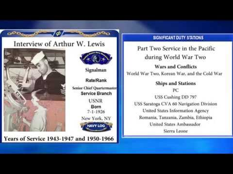 USNM Interview of Arthur Lewis Part Two Service in the Pacific during World War Two