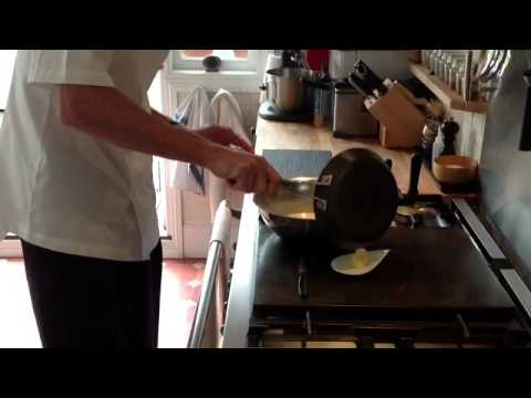 Top Chef Dennis Van Golberdinge Cooking Classic Crepe