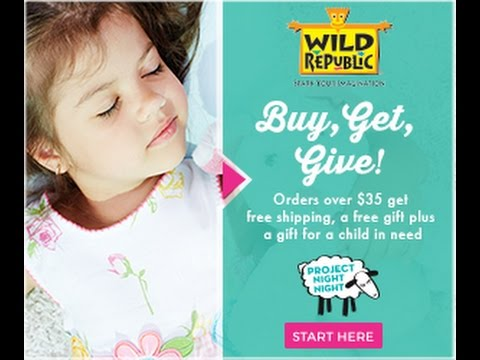 Wild Republic Partners with Project Night Night to Help Homeless Children