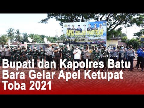 Bupati dan Kapolres Batu Bara Gelar Apel Ketupat Toba 2021
