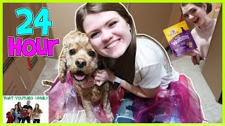 Video 24 Hours In Box Fort Dog Mansion🐶🏠 / That YouTub3 Family MP3, 3GP, MP4, WEBM, AVI, FLV Juni 2018