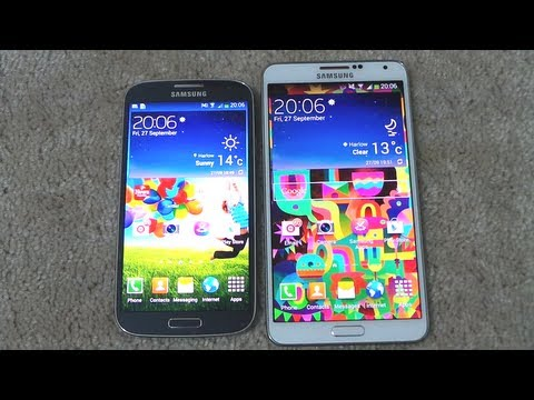 Descargar Samsung Galaxy Note 3 Vs Samsung Galaxy S4 Opening Apps & Multitasking Speed Comparison para Celular  #Android