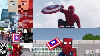 Video Minecraft Captain America Civil War side by side comparison sub Español download in MP3, 3GP, MP4, WEBM, AVI, FLV January 2017