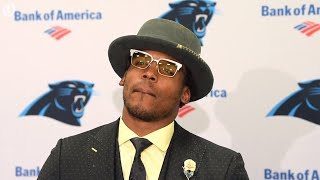 Panthers Newton responds to question about his shoulder