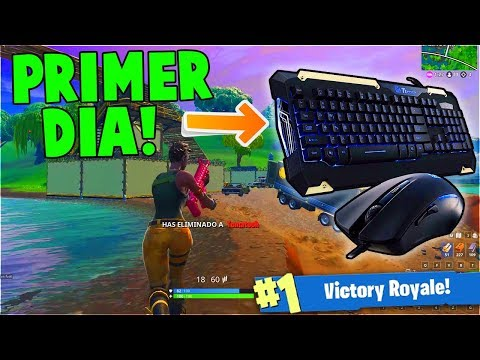 MI PRIMERA VEZ En FORTNITE Con TECLADO Y MOUSE | FORTNITE PC