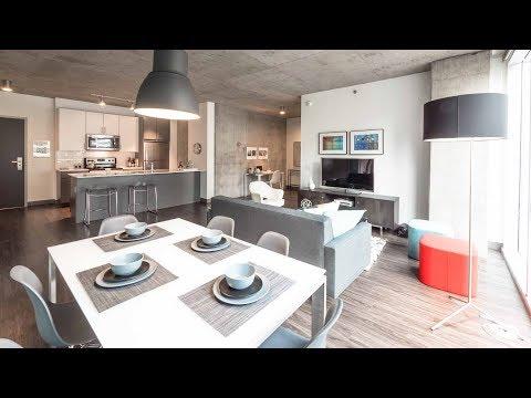An 07-tier 2-bedroom, 2-bath model at the Loop's new Linea apartments