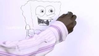 Видео: рисуем Спанч Боба карандашом