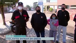 Marília: vigilantes entram em greve por atraso no pagamento e ticket alimentação