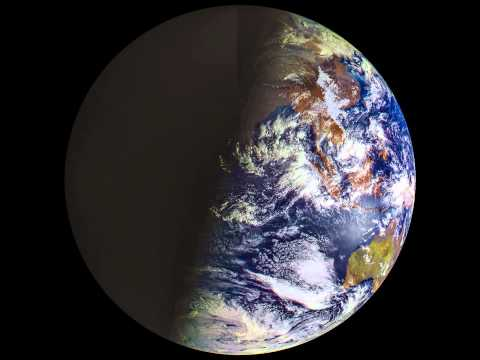 Elektro-L views Earth's four seasons