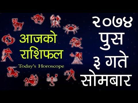 (Aajako Rashifal 2074 Push 3, Today's Horoscope...-13 minutes.)
