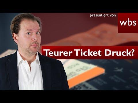 Krass: 2,50 Euro für selbst ausgedruckte Tickets - Ist das legal?