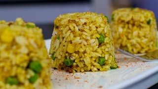 Curry Fried Rice - Quick And Easy Vegan Recipe!