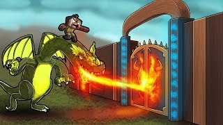 Minecraft Dragons - DRAGONS FIRE OPENS GATE TO BAD LANDS!