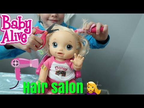 BABY ALIVE Hair Salon babys Pumkins First Hair Cut