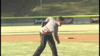 Westminster School baseball and softball coach, Brent McGuire demonstrates throwing drills to prevent injuries and refine technique.