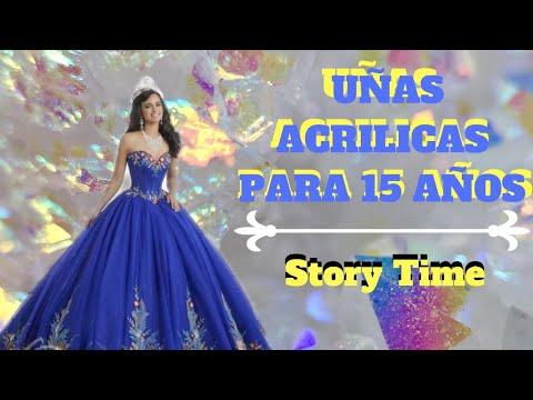 #storytime #uñas #azul plateado  Uñas Acrilicas Color Azul y Plateado Para 15 Años 2019