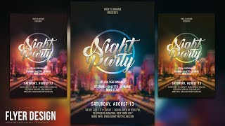 This tutorial will help you to design a night party flyer using Photoshop CC. Have fun!More Photoshop Tutorials: http://www.youtube.com/c/MirRom14Tutorial Resources:City : https://goo.gl/HYmzHGSS Light Beams : http://bit.ly/23s9JQoDooffy gradients by Dooffy-Design : https://goo.gl/7edrp6Velvetcat's Brush by Velvetcat : https://goo.gl/4GDF7dFont:Back to Black by Misti's FontsFollow Us : Facebook : https://goo.gl/H5m598Google+ : https://goo.gl/PMkAPNWeb : http://goo.gl/E4vwh4Twitter : http://bit.ly/1RlY5QnMusic Credits:Inner Journey by Audionautix is licensed under a Creative Commons Attribution license (https://creativecommons.org/licenses/by/4.0/)Artist: http://audionautix.com/Photohop Tutorials Movie Poster : http://bit.ly/1phkZQcPhotoshop Tutorials Poster : http://bit.ly/1Q7bQTbPhotoshop Tutorials Flyer CMYK : http://bit.ly/1WVQjOHThanks for watching!