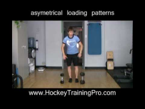New off-ice strength training technique for hockey players.