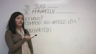 In this French lesson, Sonia explains how you can introduce yourself in French. Includes an example conversation with Sophie. Presented by Diplomat Language School in Toronto, Canada.