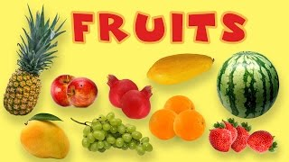 Fruits Rhymes In English  Fruits Names With Picture For Children  Poems For KidsLearn fruit names with proper pronunciation!