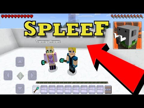Craftsman Building Craft : Me and Adam play SPLEEF - Multiplayer