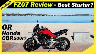 8. Yamaha FZ-07 (MT-07) Review | Best Beginner Motorcycle? | VS CBR500r