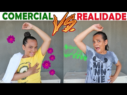 COMERCIAL VS REALIDADE! - JULIANA BALTAR (видео)