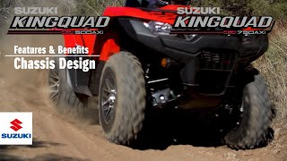 5. KINGQUAD 750/500 AXi 4x4  | OFFICIAL TECHNICAL PRESENTATION VIDEO -Chassis- | Suzuki