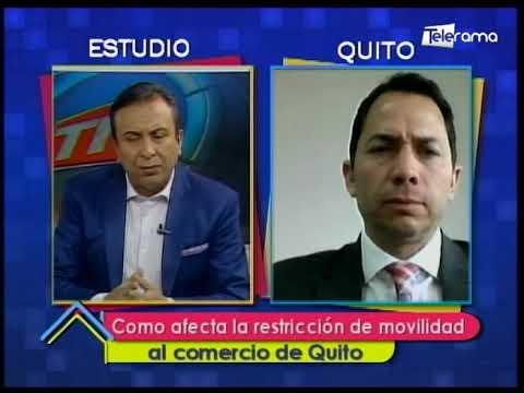 Como afecta la restricción de movilidad al comercio de Quito