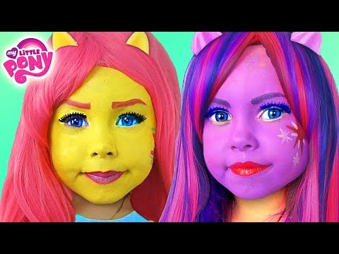 Kids Makeup My Little Pony with Colors Paints Alisa Play Dolls Equestria Girls MLP & DRESS UP