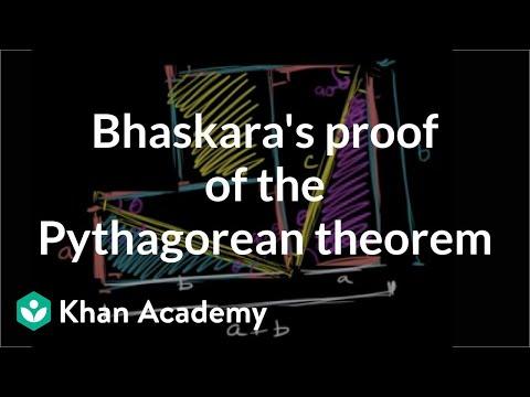 Bhaskaras Proof Of The Pythagorean Theorem Video Khan Academy