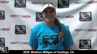 2020 Madison Milligan Power Hitting Third Base Softball Skills Video