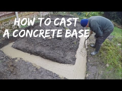 How to cast a concrete footing for a timber summerhouse base