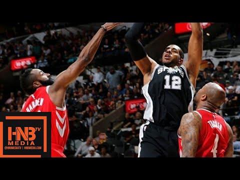 Houston Rockets vs San Antonio Spurs Full Game Highlights / April 1 / 2017-18 NBA Season (видео)