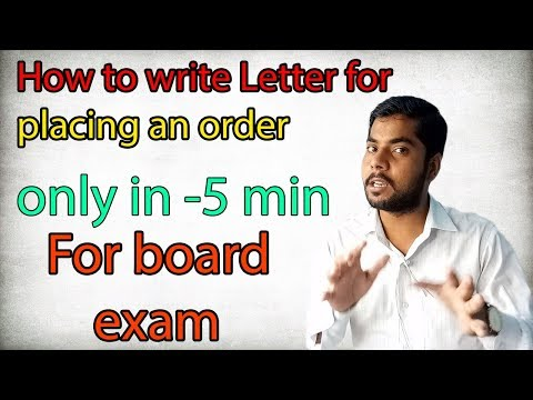 How To Write Letter For Placing An Order || Important Letter For Board Exam Class-10th , 11th , 12th